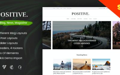 Test du thème WordPress Positive , voici notre avis