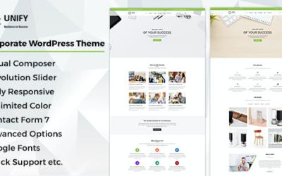 Test du thème WordPress Unify , découvrez notre avis